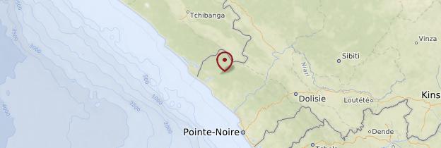 Carte Parc national de Conkouati-Douli - République du Congo