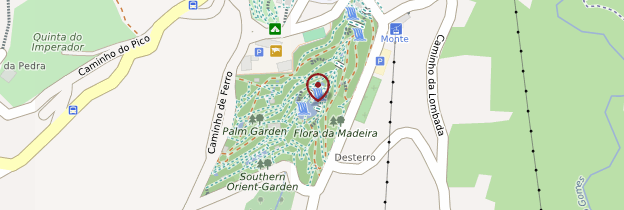 Carte Jardim Tropical Monte Palace - Madère