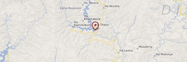 Carte Katse Dam - Lesotho
