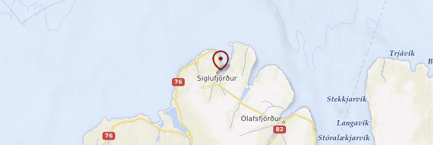 Carte Siglufjörður - Islande