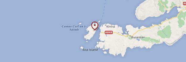 Carte Île de Iona - Écosse
