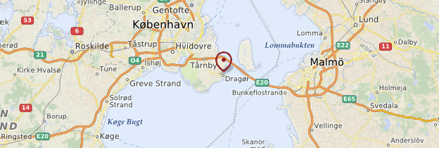 Carte Dragør - Danemark