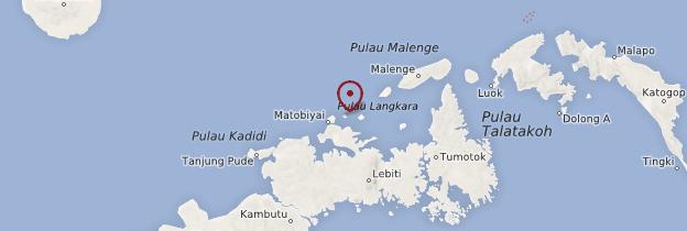 Carte Bolilanga - Indonésie