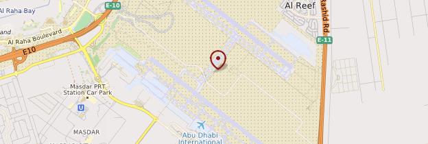 Carte Aéroport d'Abu Dhabi - Abu Dhabi
