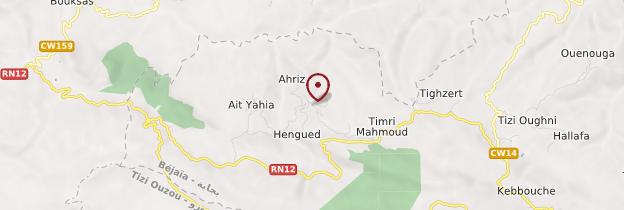 Carte Assif El Hammam - Algérie