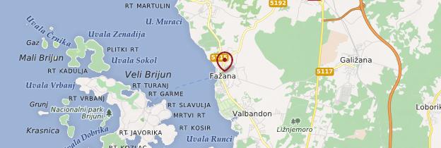 Carte Fažana - Croatie