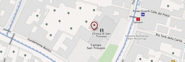 Carte Chiesa San Trovaso - Venise