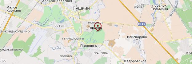 Carte Parc de Pavlovsk - Russie