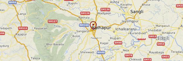 Carte Kolhapur - Inde