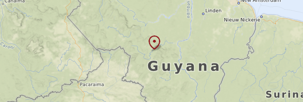 Carte Kaieteur Falls (Chutes de Kaieteur) - Guyana