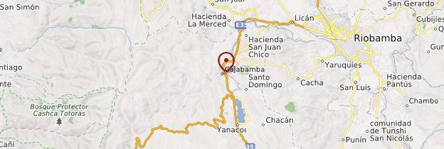 Carte Cajabamba - Équateur