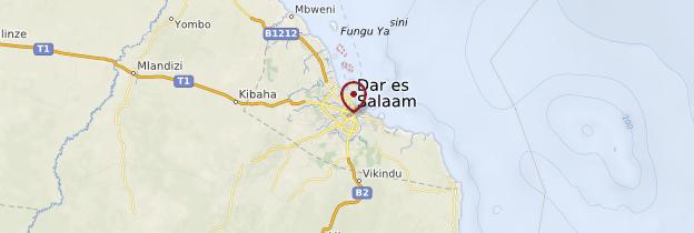 Carte Dar es-Salaam - Tanzanie