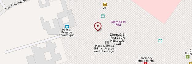 Carte Place Jemaa-el-Fna - Marrakech