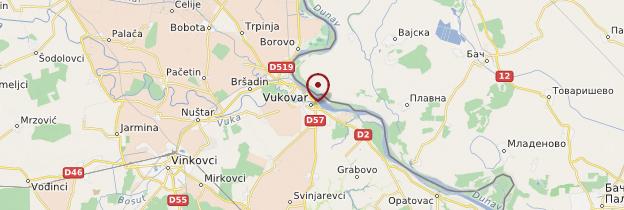 Carte Vukovar - Croatie