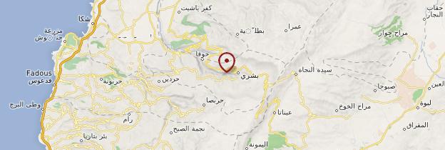 Carte Vallée de la Qadisha - Liban