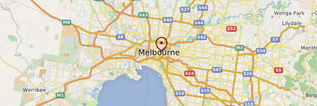 Carte Melbourne - Australie