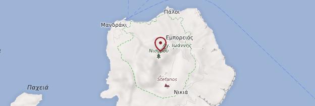 Carte Île de Nisyros - Îles grecques