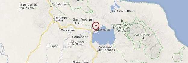 Carte Catemaco - Mexique