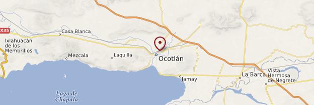 Carte Ocotlán - Mexique