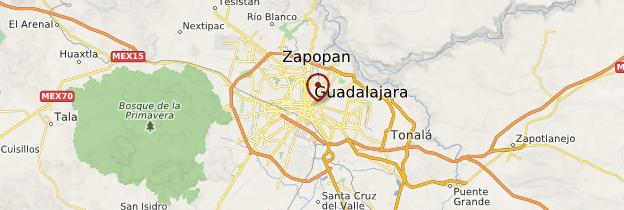 Carte Guadalajara - Mexique
