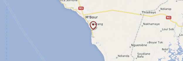 Carte Nianing - Sénégal