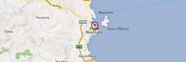 Carte Agios Nikolaos - Crète