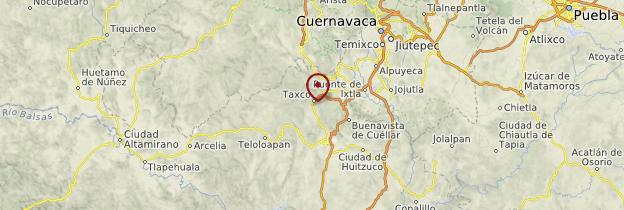 Carte Taxco - Mexique