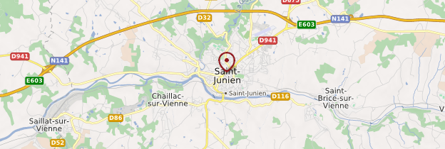Carte Saint-Junien - Limousin