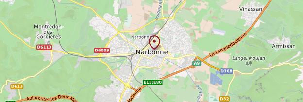 Carte Narbonne - Languedoc-Roussillon