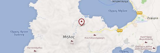 Carte Île de Milos - Îles grecques