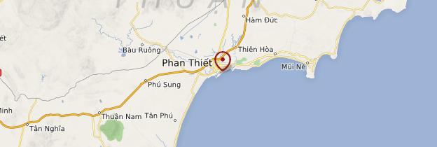 Carte Phan Thiết et la plage de Mũi Né - Vietnam