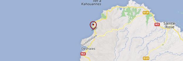 Carte Plage de Grande-Anse - Guadeloupe