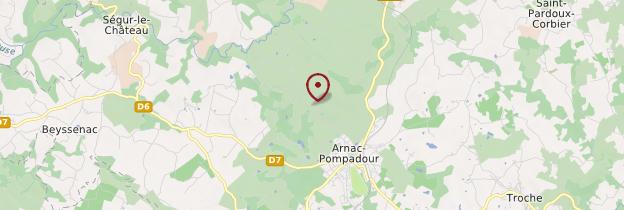 Carte Arnac-Pompadour - Limousin