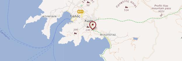 Carte Île d'Ios - Îles grecques