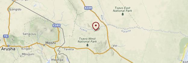 Carte Parc de Tsavo - Kenya