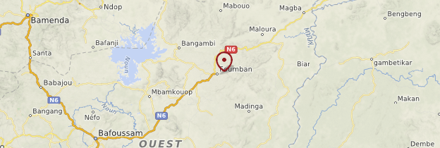 Carte Foumban - Cameroun