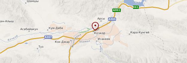 Carte Kochkor - Kirghizistan