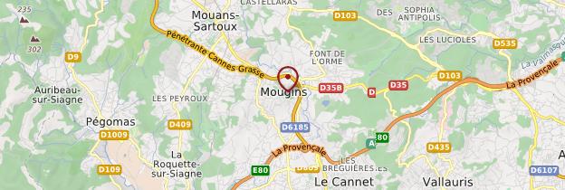 Carte Mougins - Côte d'Azur