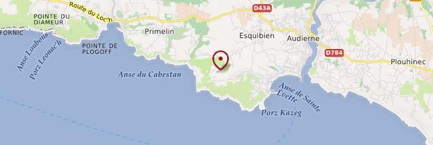 Carte Cap Sizun - Bretagne