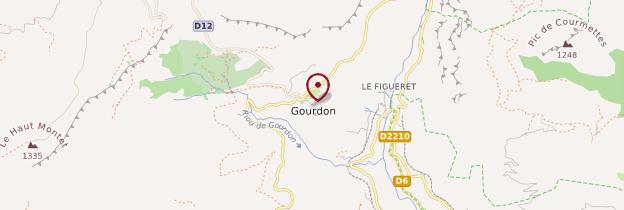 Carte Gourdon - Côte d'Azur