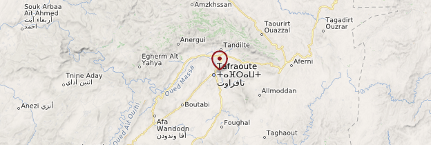 Carte Tafraoute - Maroc