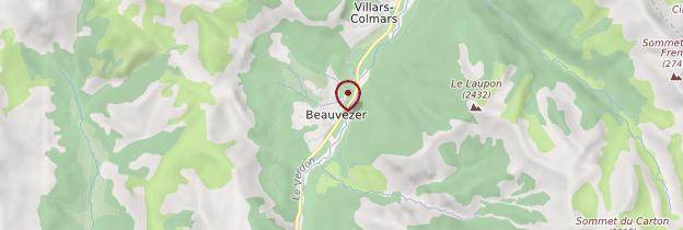 Carte Beauvezer - Provence