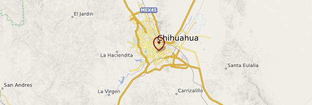 Carte Chihuahua - Mexique