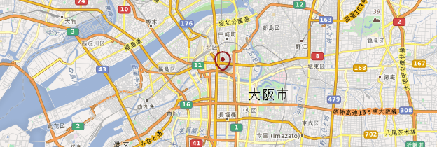 Carte Osaka - Japon