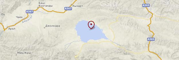 Carte Lac Song Kol - Kirghizistan