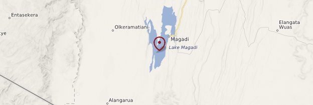 Carte Lac Magadi - Kenya