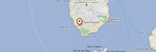 Carte Basse-Terre (ville) - Guadeloupe