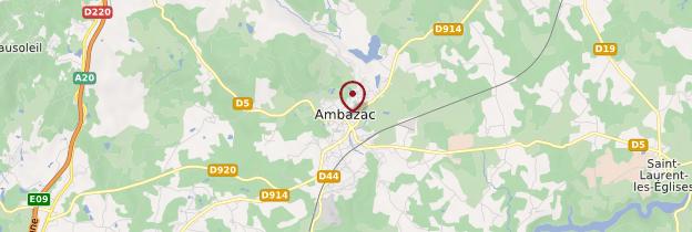 Carte Ambazac - Limousin