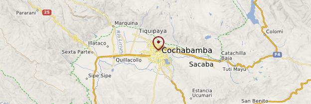 Carte Cochabamba - Bolivie
