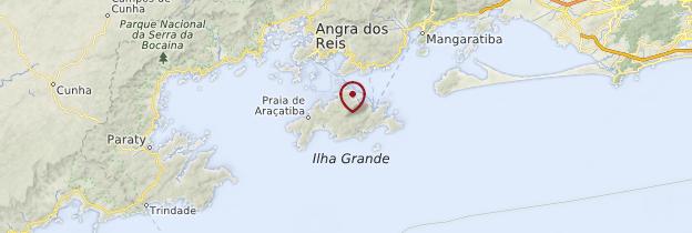 Carte Ilha Grande - Brésil